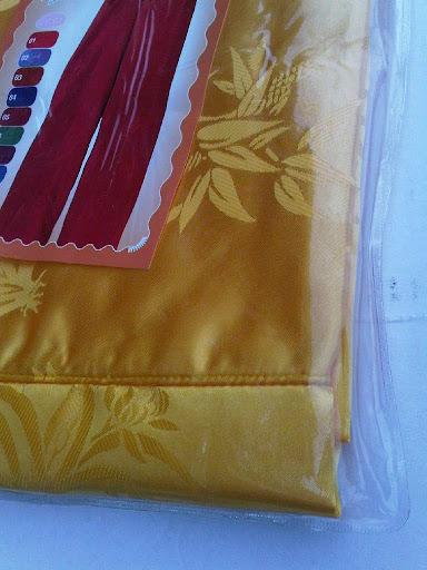 กางเกงแพรจีนแท้รุ่นเอวยาง สีเหลืองทอง (กางเกงผู้ชาย กางเกงนอน )