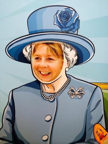 Claire as Queen Elizabeth II