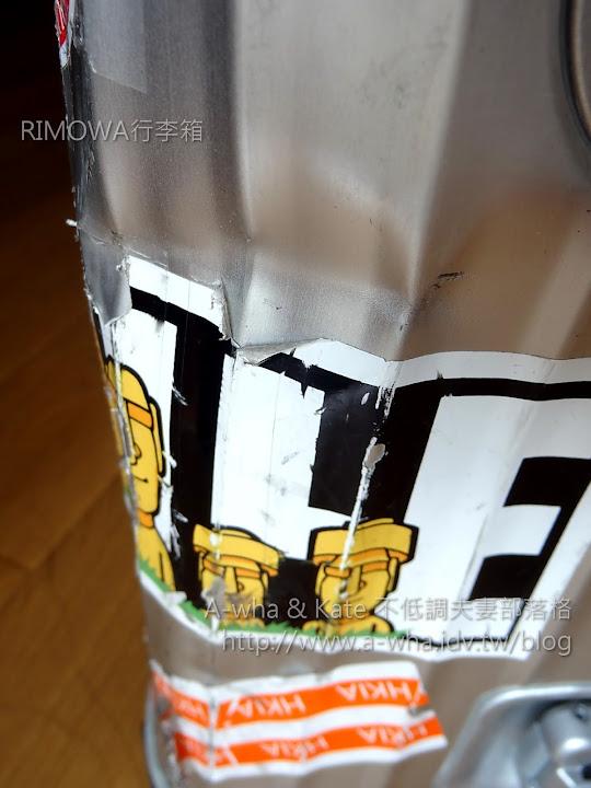 【RIMOWA行李箱】RIMOWA刮傷刮花撞凹受傷全紀錄!狠心送廠維修鈑金第一篇~