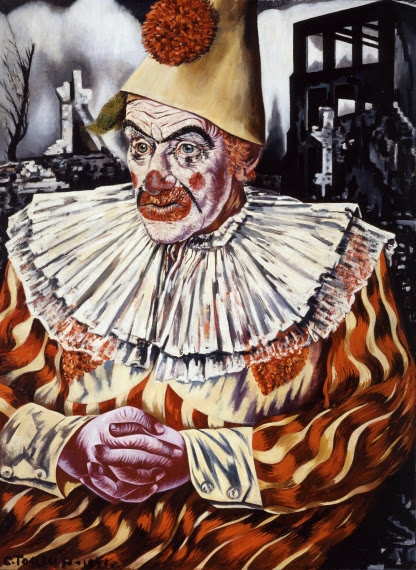 Charley Toorop - Clown in the Ruins of Rotterdam.