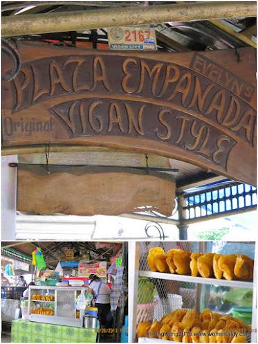 Empanada stores in Burgos Plaza in Vigan Ilocos Sur, Philippines