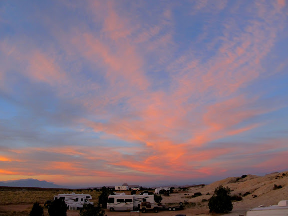 Sunday sunrise over camp