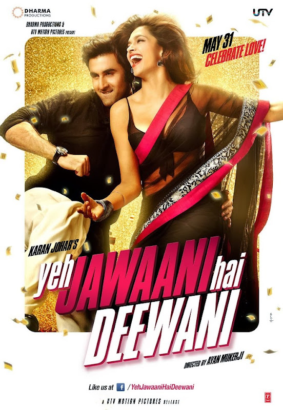 Poster Of Hindi Movie Yeh Jawaani Hai Deewani (2013) Free Download Full New Hindi Movie Watch Online At Alldownloads4u.Com