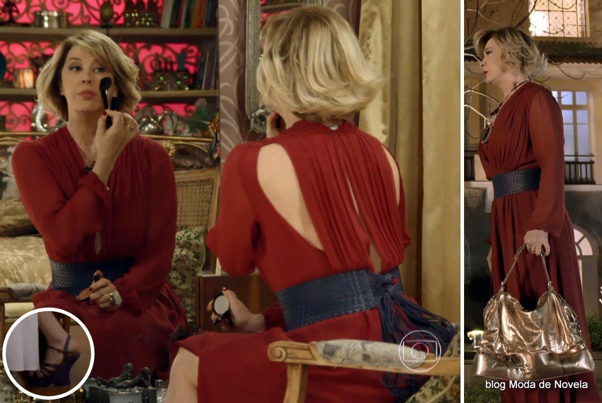 moda da novela Alto Astral, look da Samantha dia 20 de novembro