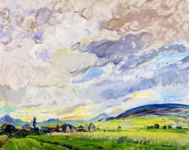 Max Slevogt - Landscape at Godramstein - Clouds Passing , 1910
