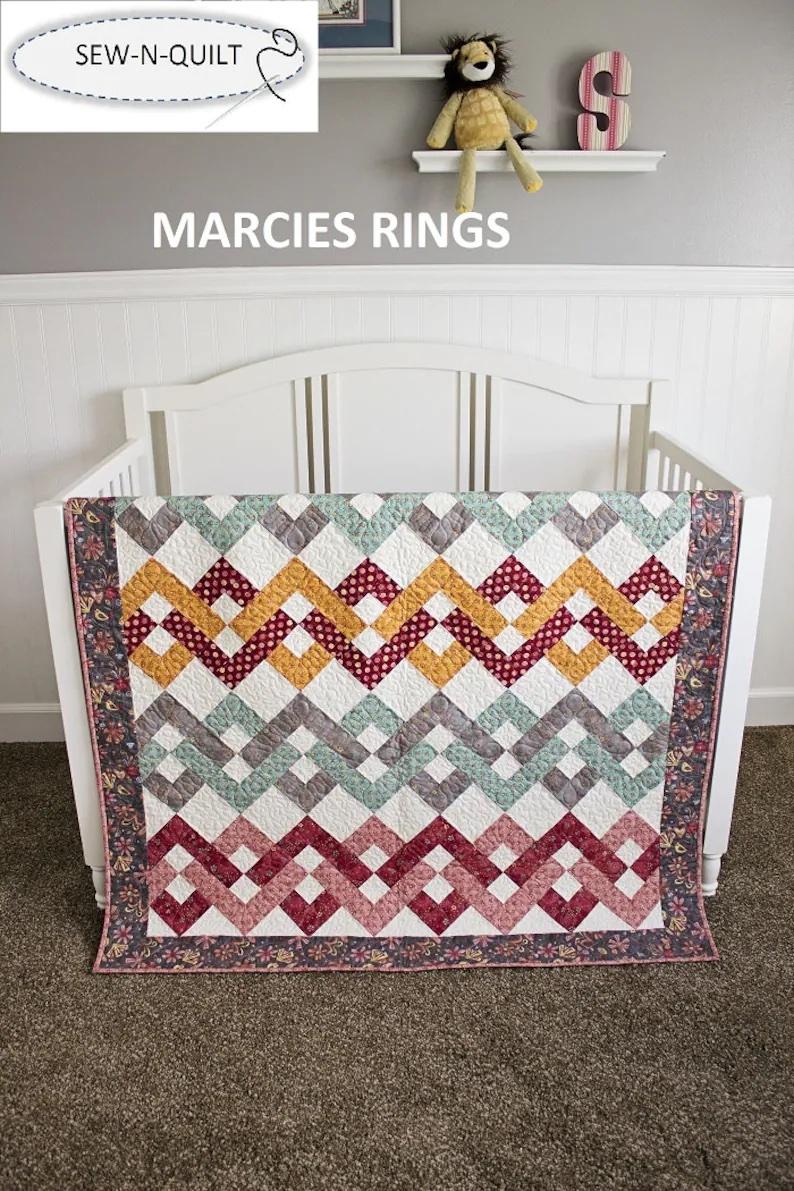 3. Interlocking Rings Pattern