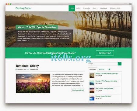 5 theme đẹp, miễn phí Responsive WordPress 2015 5