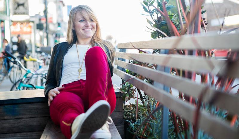 Women's #RedPantsFriday: Allison loves to lounge