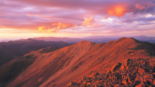 Wheeler Peak Wilderness at Sunset, New Mexico.jpg