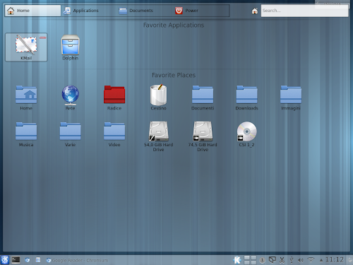 KDE Homerun Launcher - Home