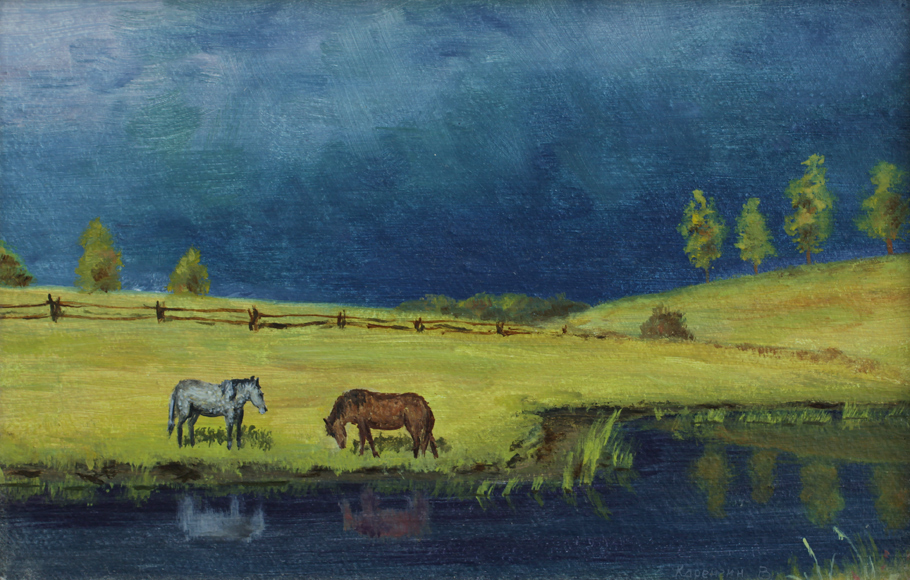 art, painting, живопись, масло, рисунки, Валерий Каренгин,Valery Karengin,перед грозой, before thunderstorm,