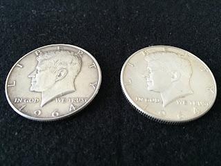 1964年ケネディーハーフシルバーコイン ケネディー面