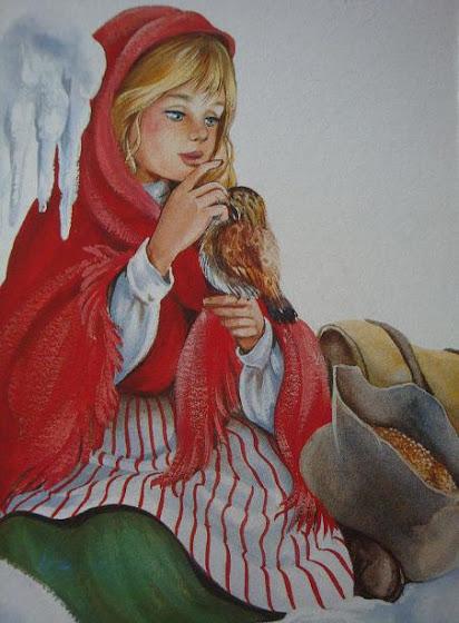 девочка и птица