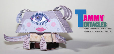 Tammy Tentacles Paper Toy