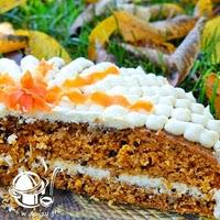 tort marchwiowo-ananasowo-orzechowo-kokosowy