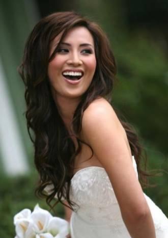 peinados de novia del se pueden realizar con pelo largo rizado suelto o liso de que se tenga el cabello medio o media melena