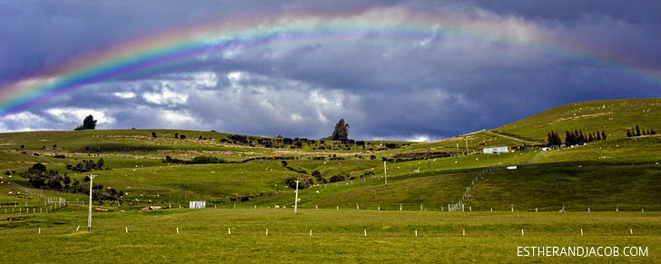 Double Rainbow OMG! South Island New Zealand.
