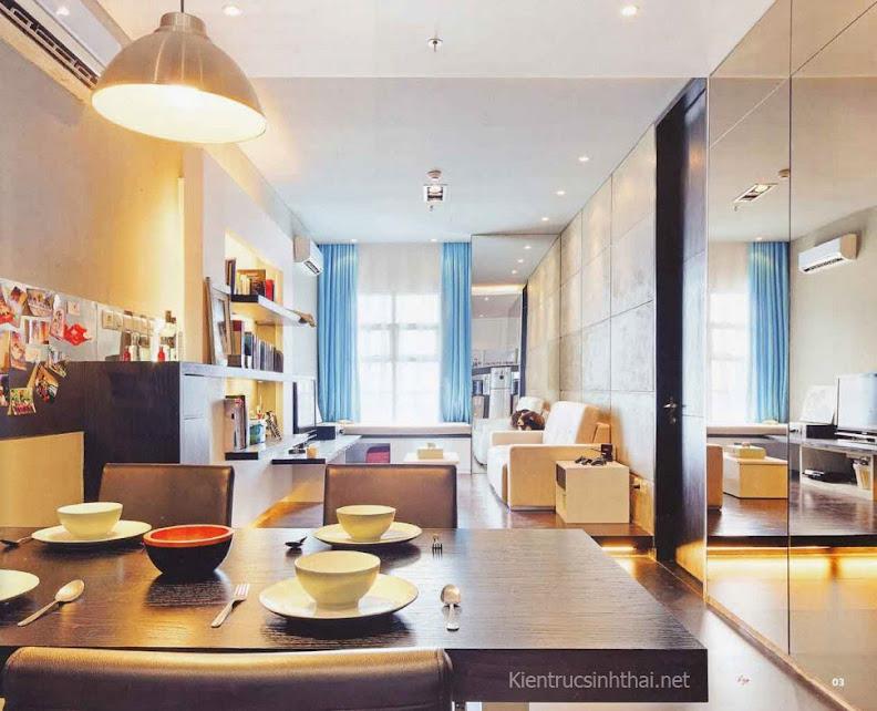 Nội thất căn hộ chung cư đơn giản, hiện đại