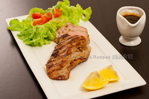 烤豬柳配薑檸檬汁 Grilled Pork Fillet in Ginger Honey Sauce02