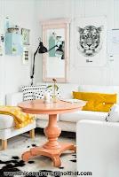 Trang trí nội thất trong nhà với màu pastel