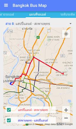 [App.th] แนะนำแอพพลิเคชัน Bangkok Bus Map: ฺ แอพฯ แผนที่เส้นทางรถเมล์กรุงเทพมหานคร  | Blognone