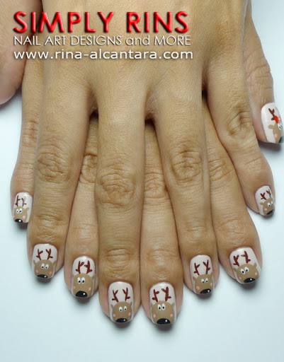 Reindeer Nail Art Design
