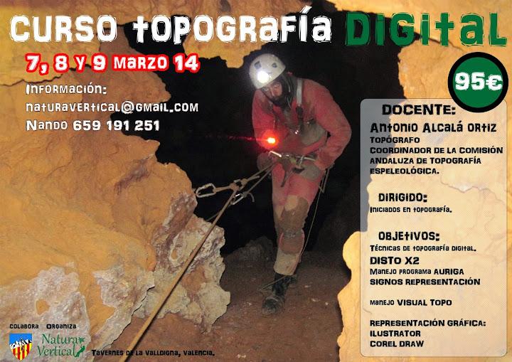 Curso de Topografía Digital en Valencia, 7-9 de marzo CursoTopo