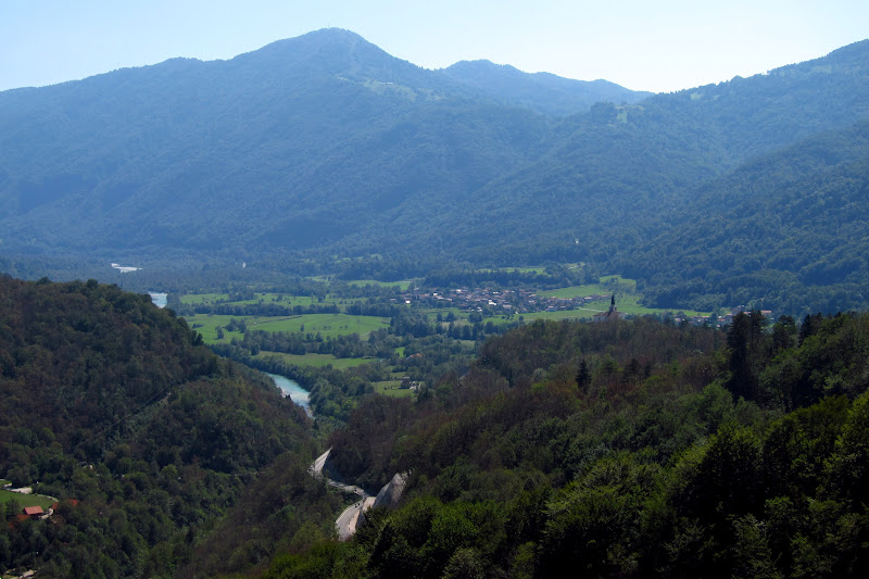 The Soča Valley.  You can see the WWI memorial on the hill in the foreground.