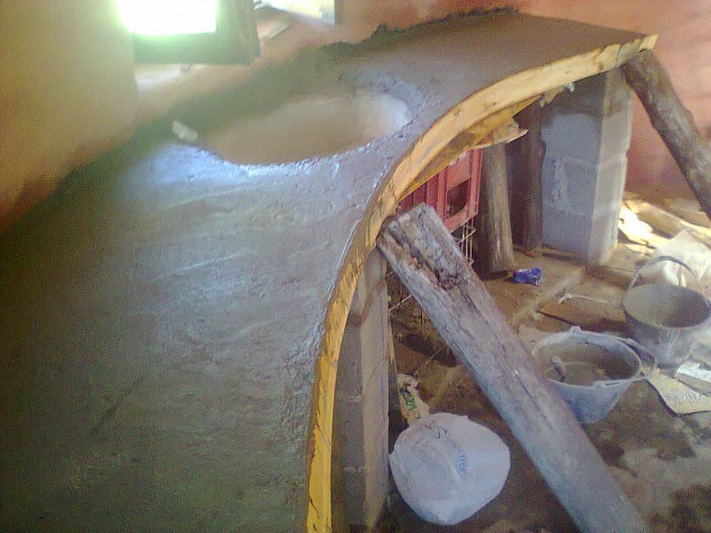 La mesada y la bacha de casa listas superadobeserrano for Como hacer un piso de cemento paso a paso