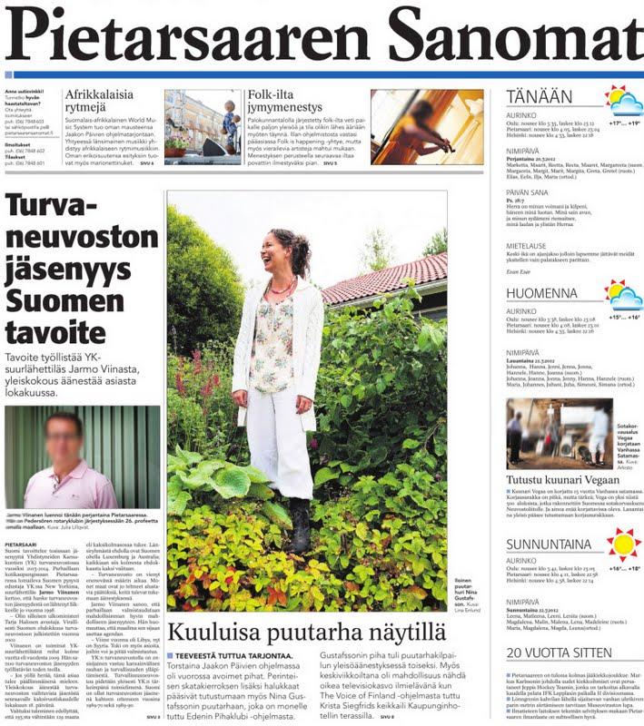 Pietarsaaren sanomat 20.7.2012