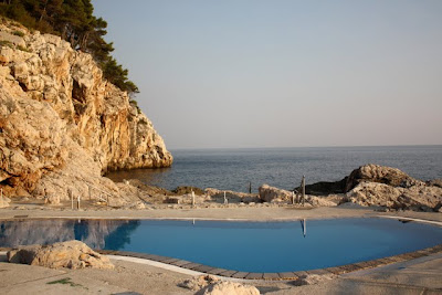 Palace Hotel private beach in Dubrovnik Croatia