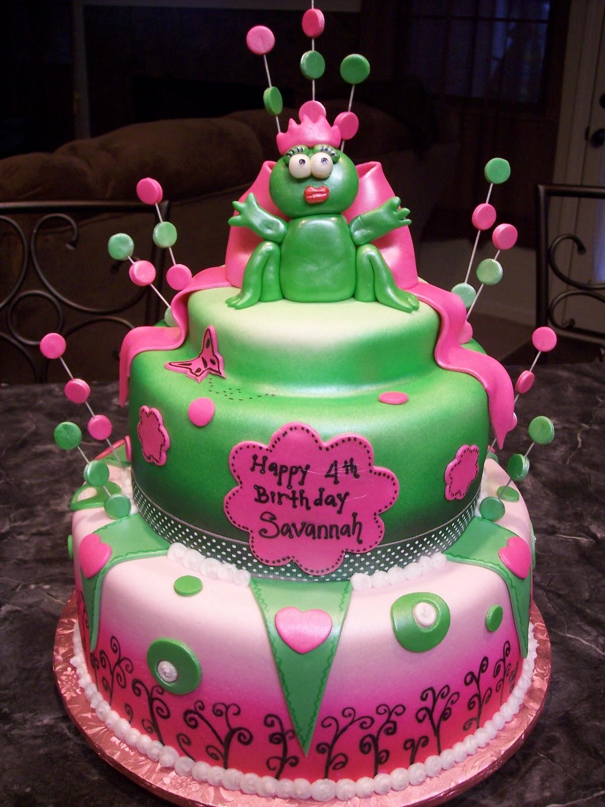 Mymonicakes Princess Frog Cake