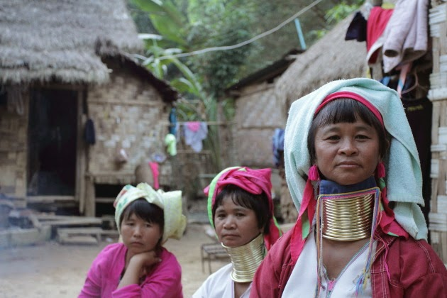 Long Necked Karen Women at Ban Nai Soi village near Mae Hong Son, Thailand