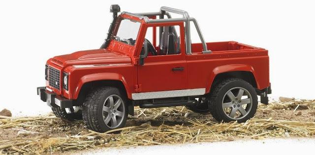 Mô hình Xe Jeep Land Rover Defender Pick Up Car có thể chơi trong nhà hoặc ngoài trời