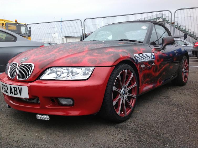 bmw z3 with wild paint job bmw z3 luxury roadsters