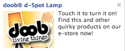 doob d-Spot Lamp - Touch it to turn it on!