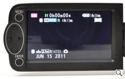 Panasonic HDC-TM40 Display