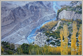 A bird's eye view of Altit Fort, Duikar Valley, Central Hunza, Gilgit Baltistan, Pakistan