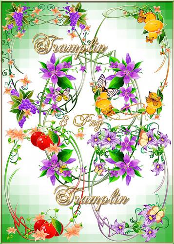 Рамки-вырезы в  Png  – Цветы, фрукты, завитушки