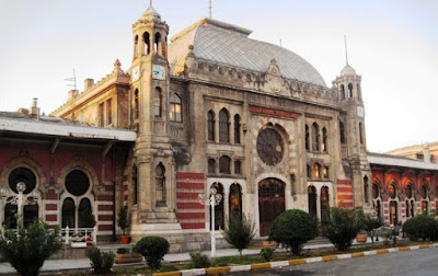 The Sirkeci station entrance for the Orient Express