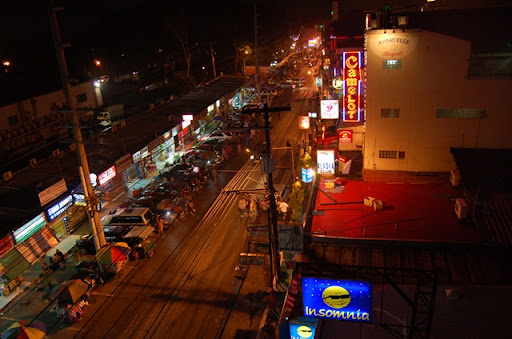 ナタリアホテルから見たフィールズ周辺 - ウォーキングストリート方面