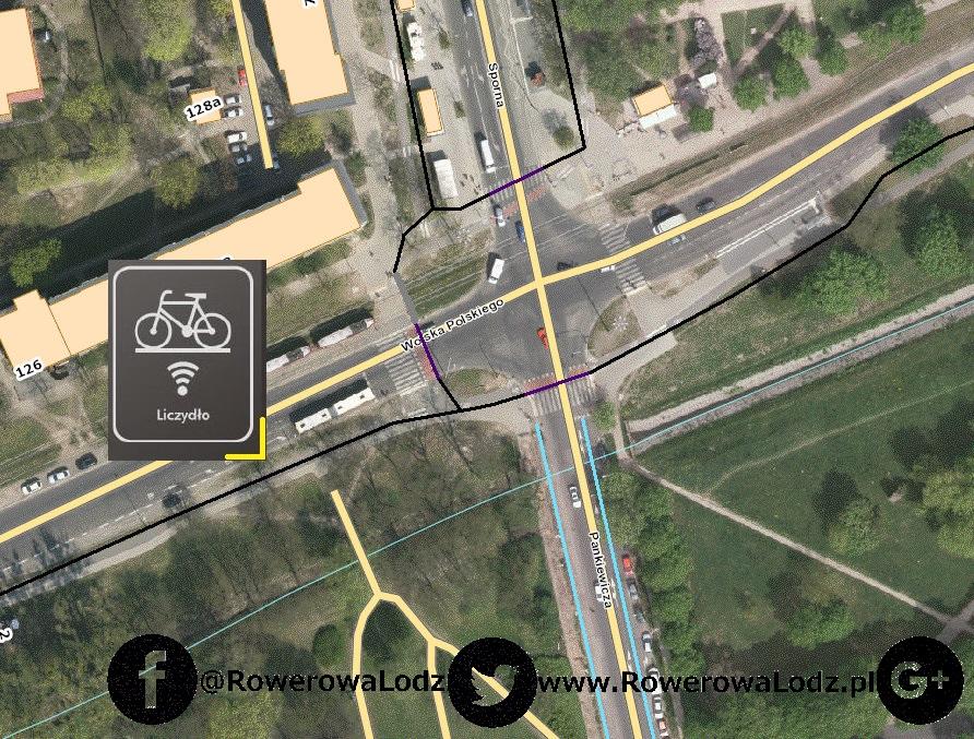 Urządzenie zlicza jedynie tych rowerzystów jadących w kierunku parku Ocalałych.