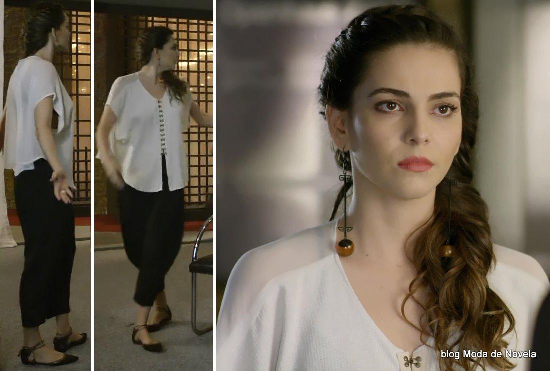 moda da novela Em Família - look da Marina dia 8 de julho