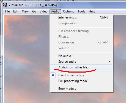 Замена аудио