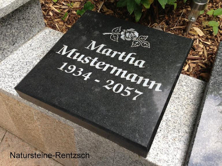 Business & Industrie Nostalgie- & Neuware Liegeplatte Abdeckplatte Liegestein Urnenstein Grabmal Steinplatte Schwarz Stein
