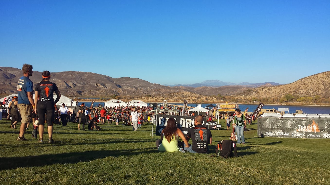 Tough Mudder Finish overlooking Vail Lake
