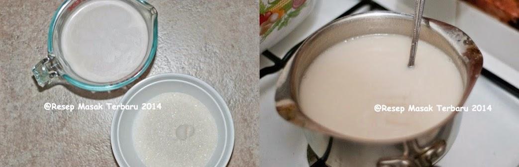 step by step membuat mango sticky rice