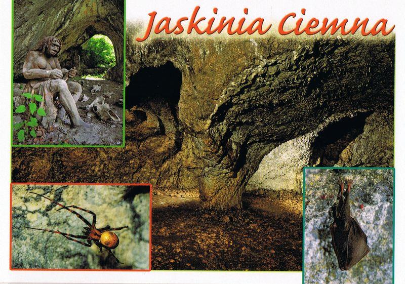 pocztówka jaskinia ciemna