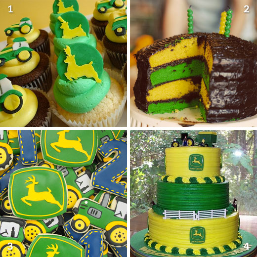 John Deere cakes cupcakes and cookies Chickabug