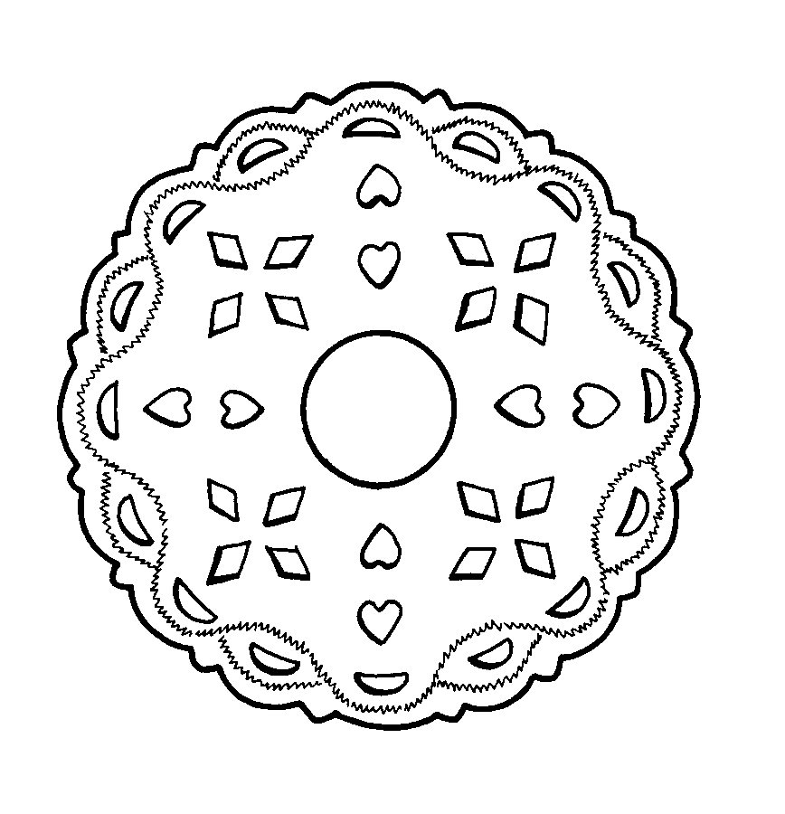 Mandalas Para Pintar: Dibujo de los Indios Iroqueses (Norteamérica)
